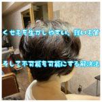 【不可能では無い!】くせ毛を生かしやすい毛質、生かし難い毛質、そして【解決法】